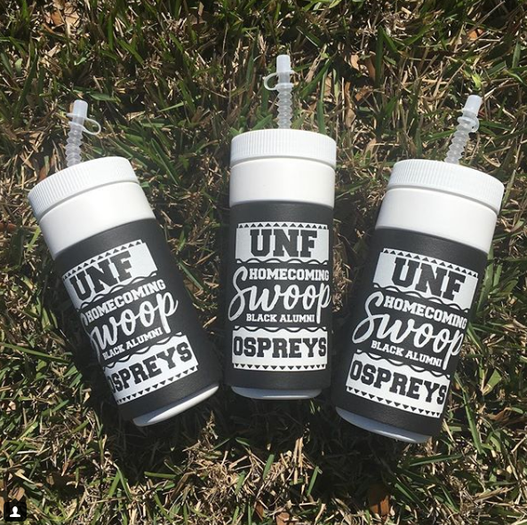 Cups designed by Daisy White for Black Alumni Weekend 2018