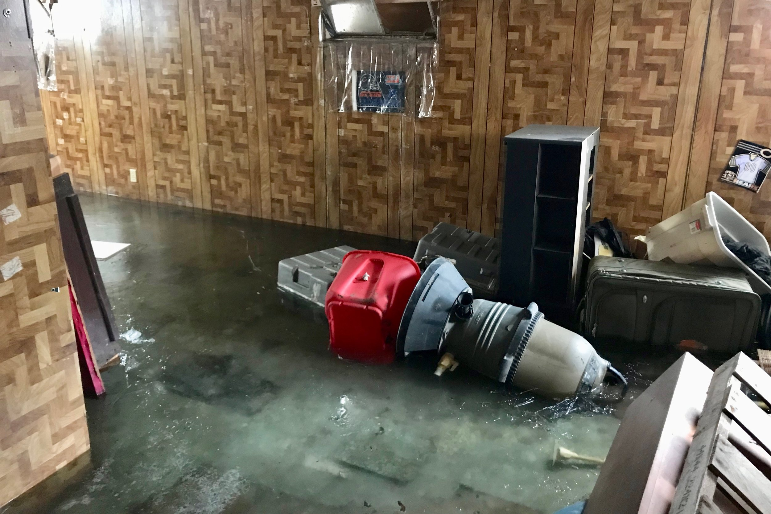 Flooded basement in Crown Point