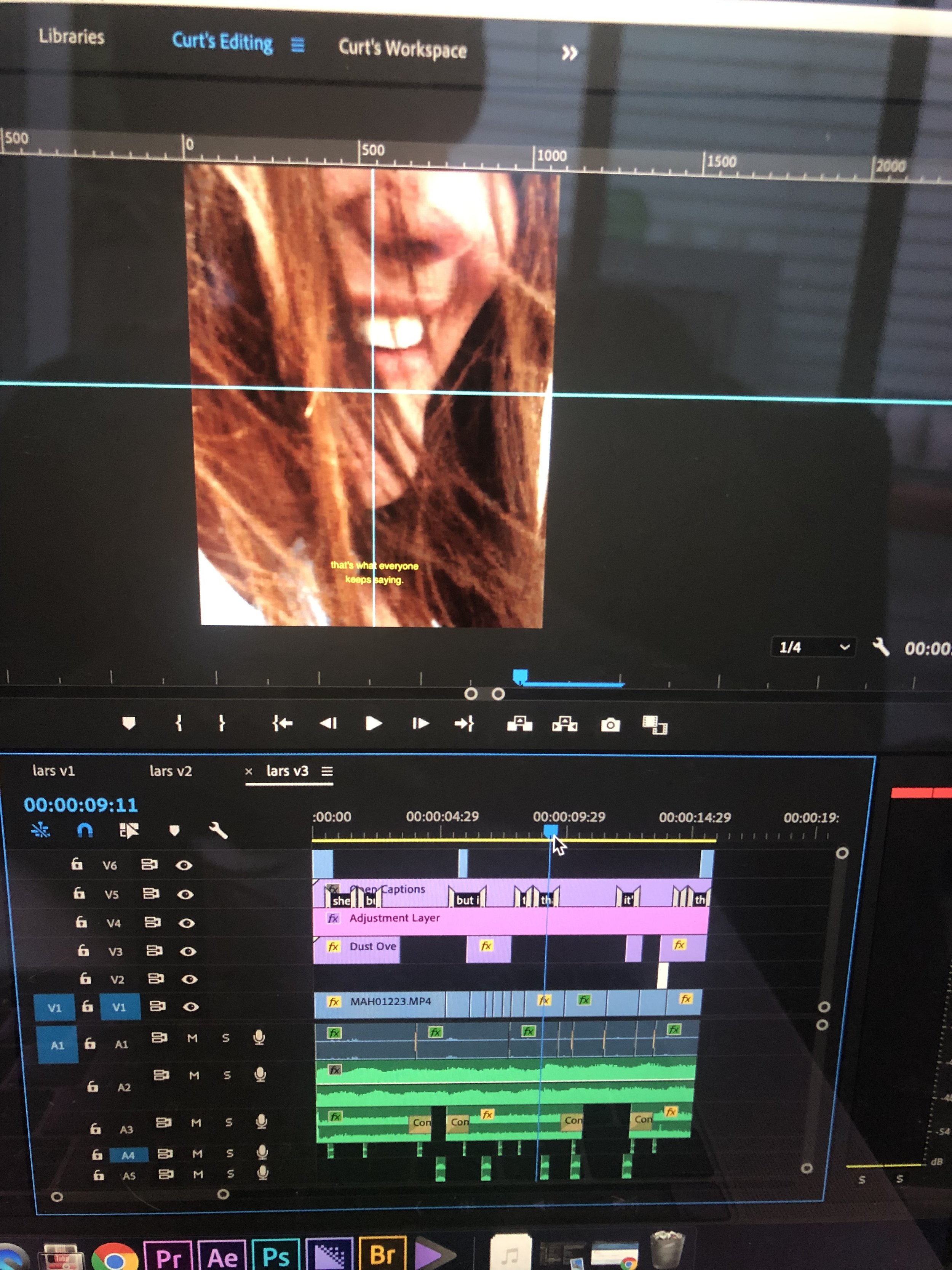 My Timeline in Premiere Pro of this instagram edit.