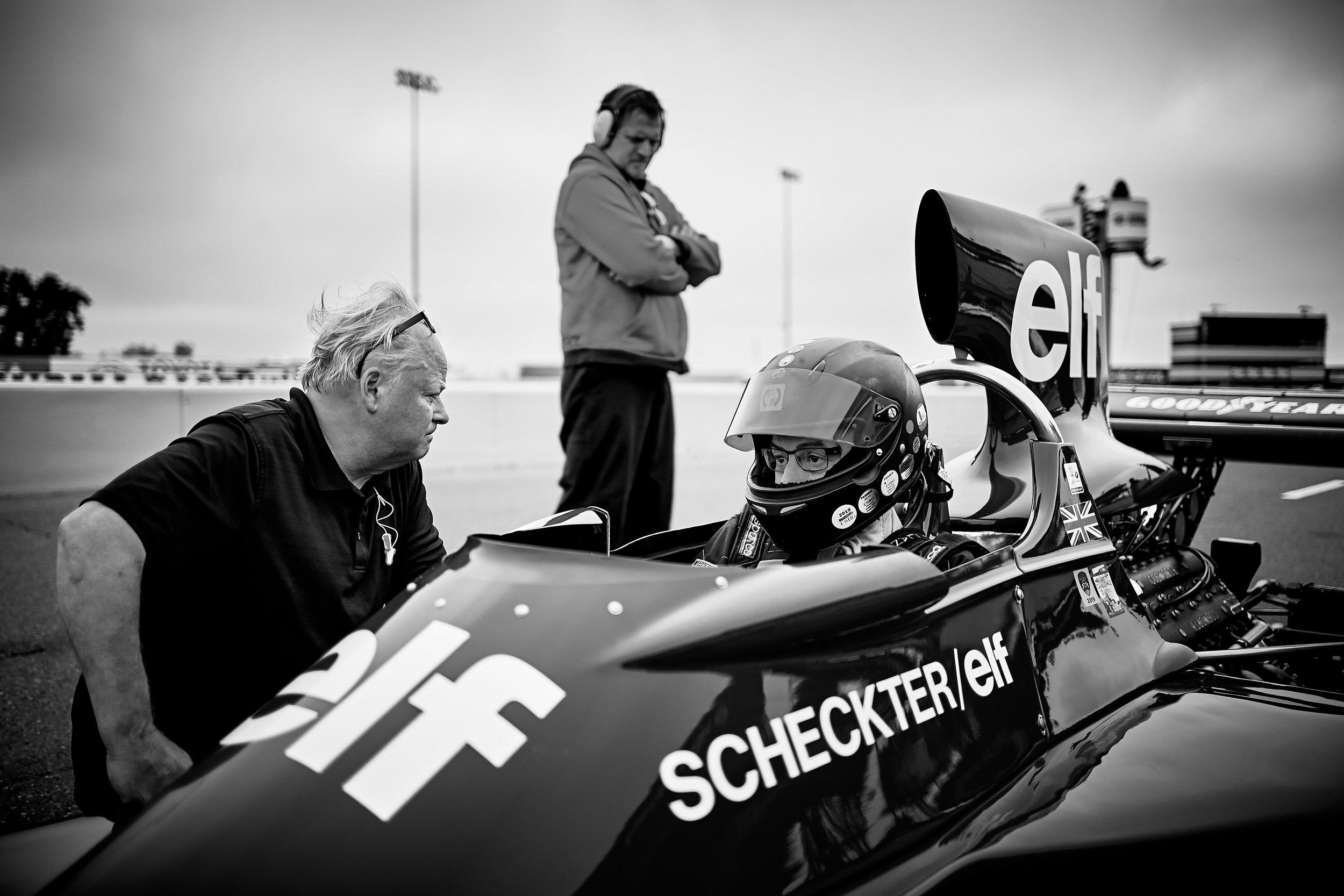 Nicolas Colyvas game ready / 1974 Tyrrell 007