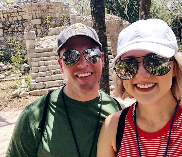 Today marks one month from when B and I went to Chichén Itza. ⠀⠀⠀⠀⠀⠀⠀⠀⠀ We woke up early to meet the bus at our hotel and after picking up more passengers (for what seemed like an eternity) we were on our 3 hr journey to this ancient city in Yucatán. ⠀⠀⠀⠀⠀⠀⠀⠀⠀ Our tour guide Jorge was incredible, and showed us/educated us on everything we needed to know about the Mayan culture and the ancient city of Chichén Itza. ⠀⠀⠀⠀⠀⠀⠀⠀⠀ Seeing the structures up close and learning so much about its history, the Maya people, their beliefs, human sacrifice, and the astronomical advances was mind blowing! ⠀⠀⠀⠀⠀⠀⠀⠀⠀ ✨Did you know that the Temple of Kulkulcan is actually surrounding a smaller temple, INSIDE of it? This is because after a certain number of years, the Maya believed they must build a better, more beautiful temple for the god, and they did...around the previous one. ⠀⠀⠀⠀⠀⠀⠀⠀⠀ ✨Did you know that they would hold games with teams from other cities, and compete to win, but winning meant their team's captain would be sacrificed? It's still up for debate, whether it was the winning or the losing team, but I believe they understood it was a great honor to win and sacrifice yourself, since you could then give the bounty to your family. ⠀⠀⠀⠀⠀⠀⠀⠀⠀ ✨Did you know that twice a year, during the Spring and Fall equinox, the north side of the Temple of Kulkulcan illuminates 7 triangles and the head of the feathered serpent at the bottom of the staircase? ⠀⠀⠀⠀⠀⠀⠀⠀⠀ ✨Did you know that the Temple of Kulkulcan is made entirely of limestone, and that if you clap in front of the North staircase, you will hear a chirping sound similar to the quetzal bird, and when the priest clapped, the Maya people believed it was the voice of the god. ⠀⠀⠀⠀⠀⠀⠀⠀⠀ ✨Did you know their calendar consisted of 18, 20-day months and 1, 5-day month, totaling 365 days; and if you were born on that 5 day month, August 6-10, you were sacrificed for the gods. ⠀⠀⠀⠀⠀⠀⠀⠀⠀ There's SO much more, so a blog is coming! ⠀⠀⠀⠀⠀⠀⠀⠀⠀ ➡️ Now I HAVE to know... 1.Have you been to Chichén Itza? 2.Would YOU be sacrificed?