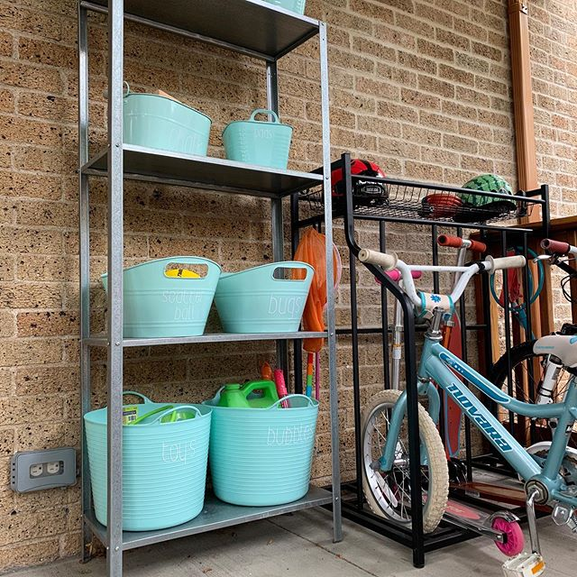 We hope you're enjoying these hot summer days outside!  Keep all your outdoor gear organized with just a few easy and inexpensive tools, like labeled bins and simple bike storage. ☀️