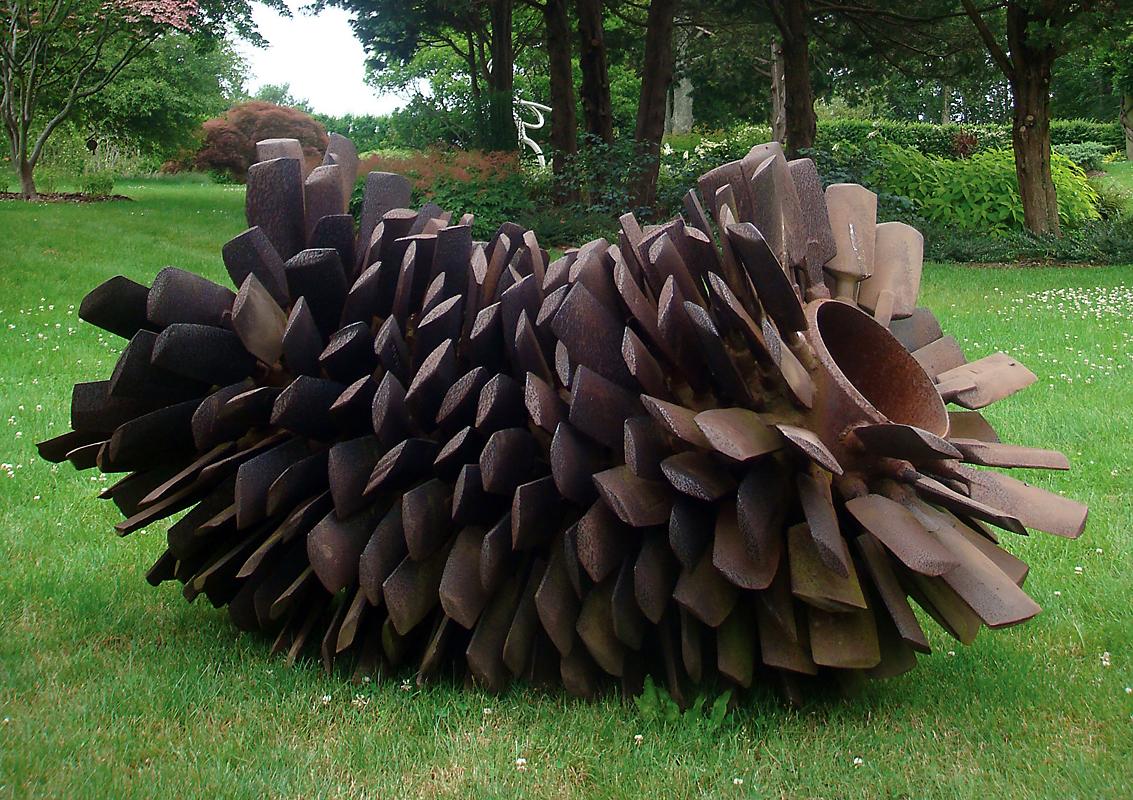 Steve Tobin Sculpture - Pine Cone.JPG