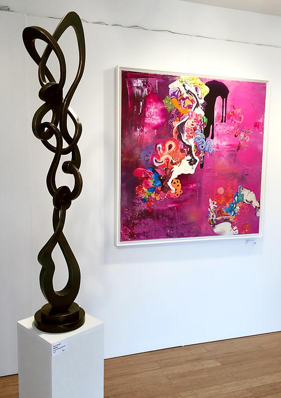 Kevin Barrett Sculpture - Groove - Aqua Art Miami 2016.jpg