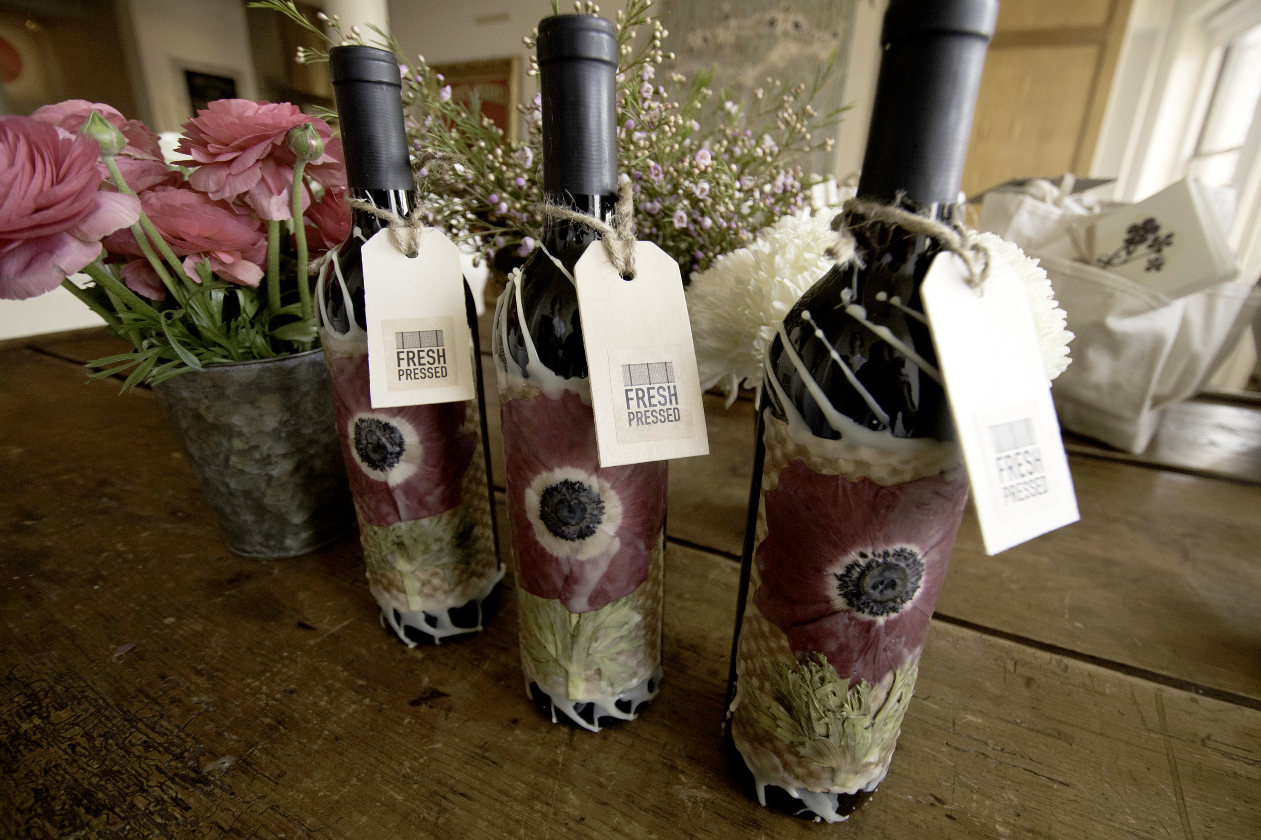 We'll be making all kinds of wine bottles in class too….