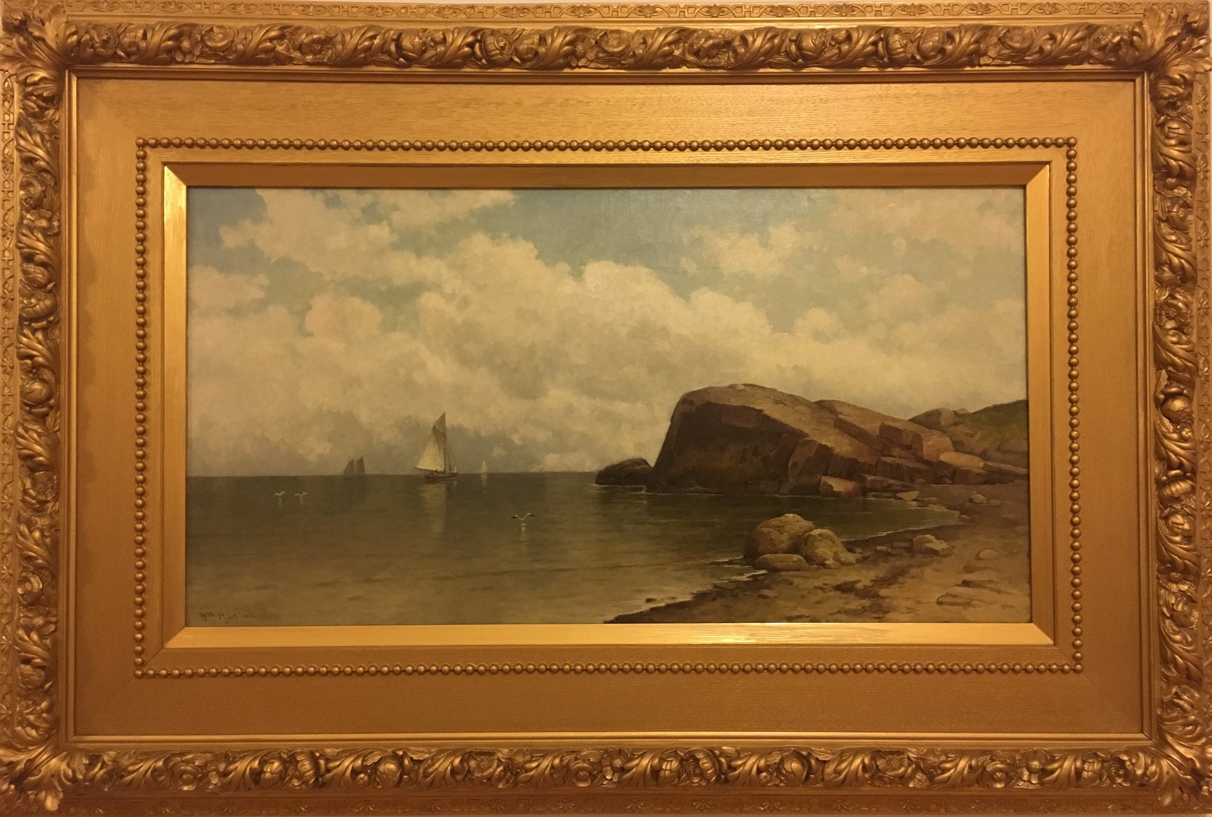 Bass Beach, Nahant  , ca. 1880's William Huston (1832 - 1920) Oil on Canvas