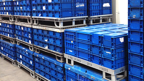 Returnable Container Management with usage of customer web based systems. -