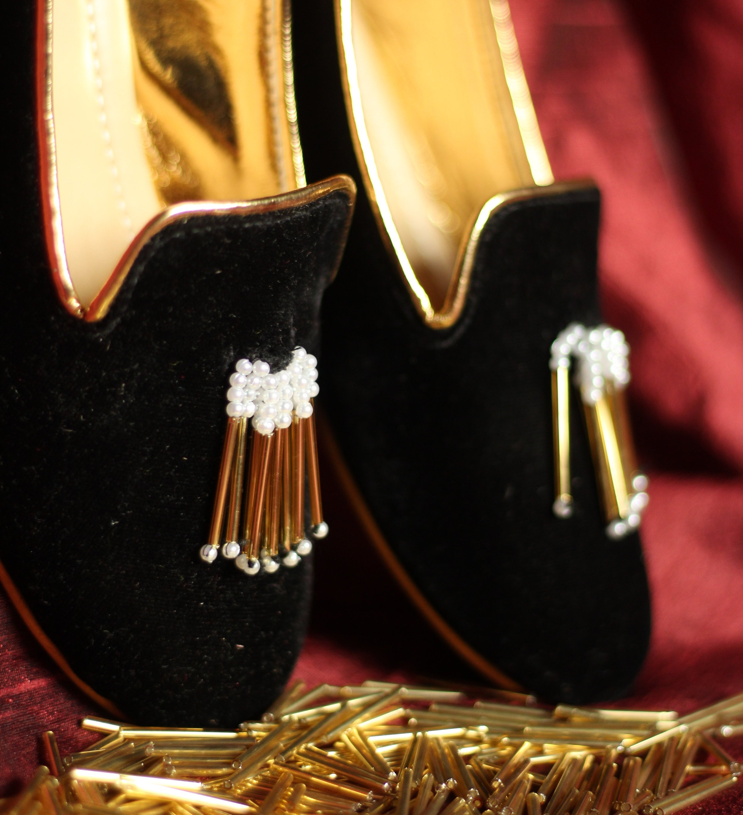BLACK BEAUTY - Pearls - Our black beauty loafers will dance when you dance and will always help you keep the best foot forward in vogue!
