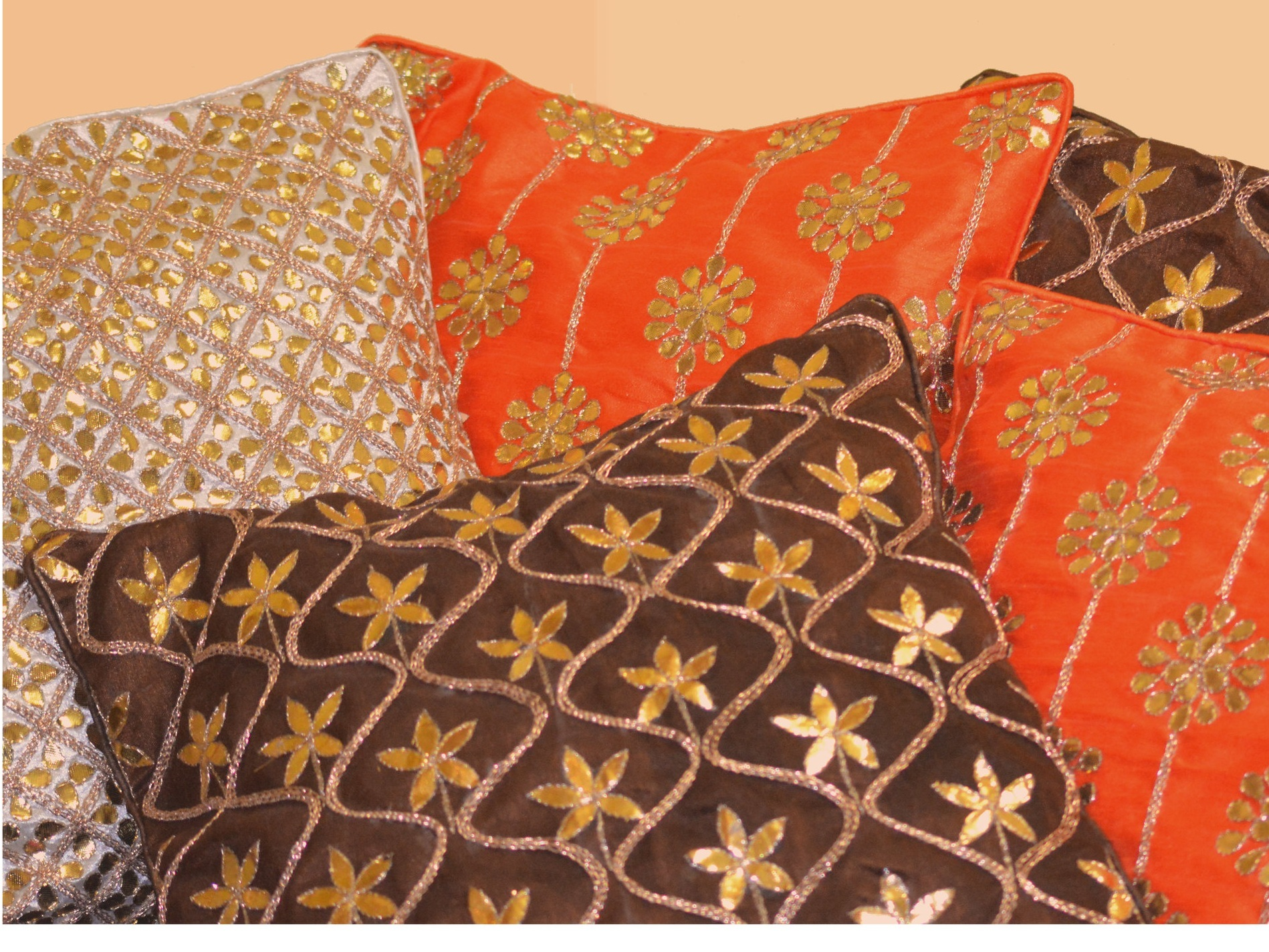 Zohra - Zohra cushions strike beautiful balance between floral motifs and geometric patterns inspired from Mughal sensibility