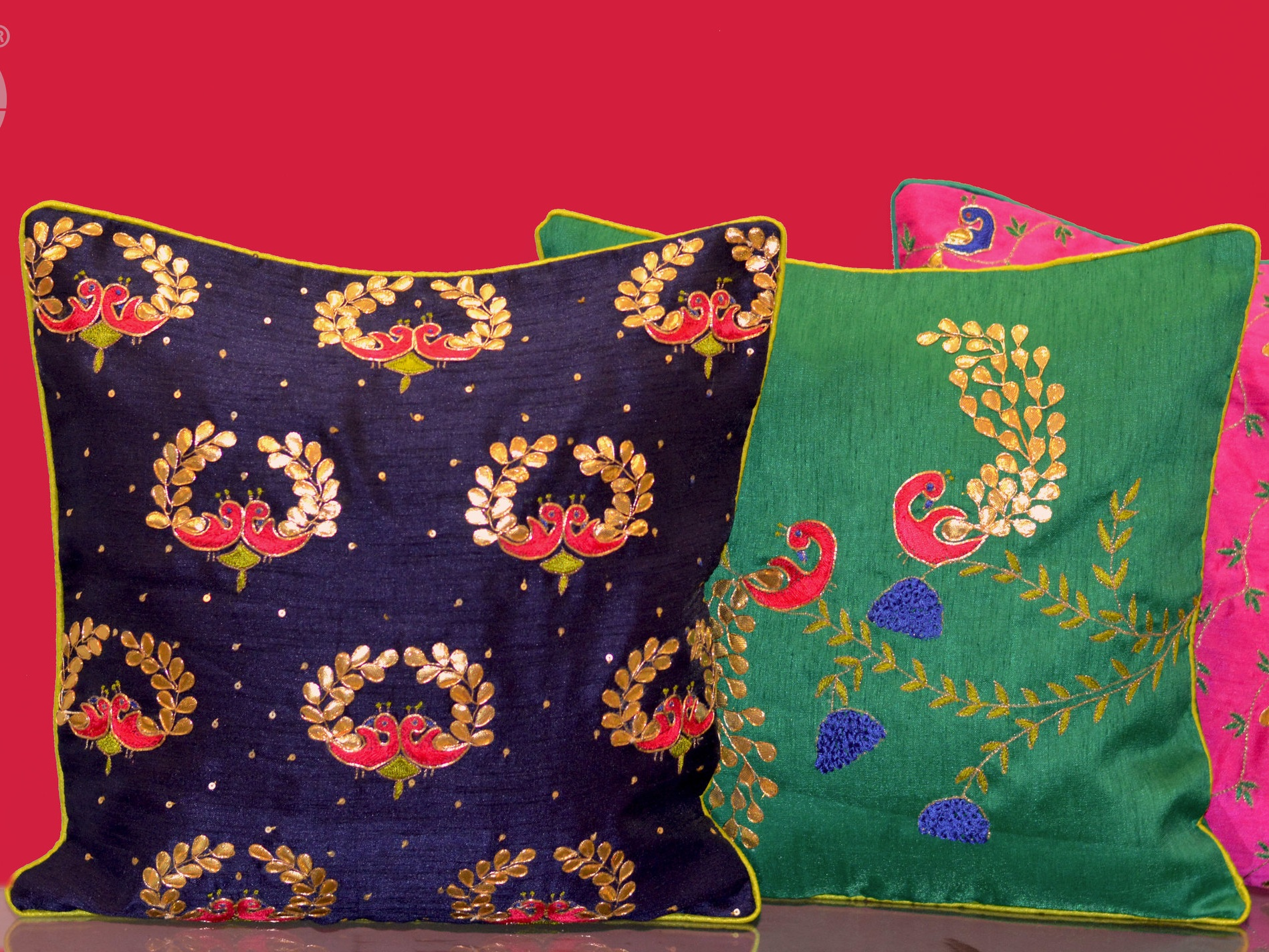Mayur - Inspired by the mighty Peacock bird, Mayur cushions will definitely add grace to your already charming home.