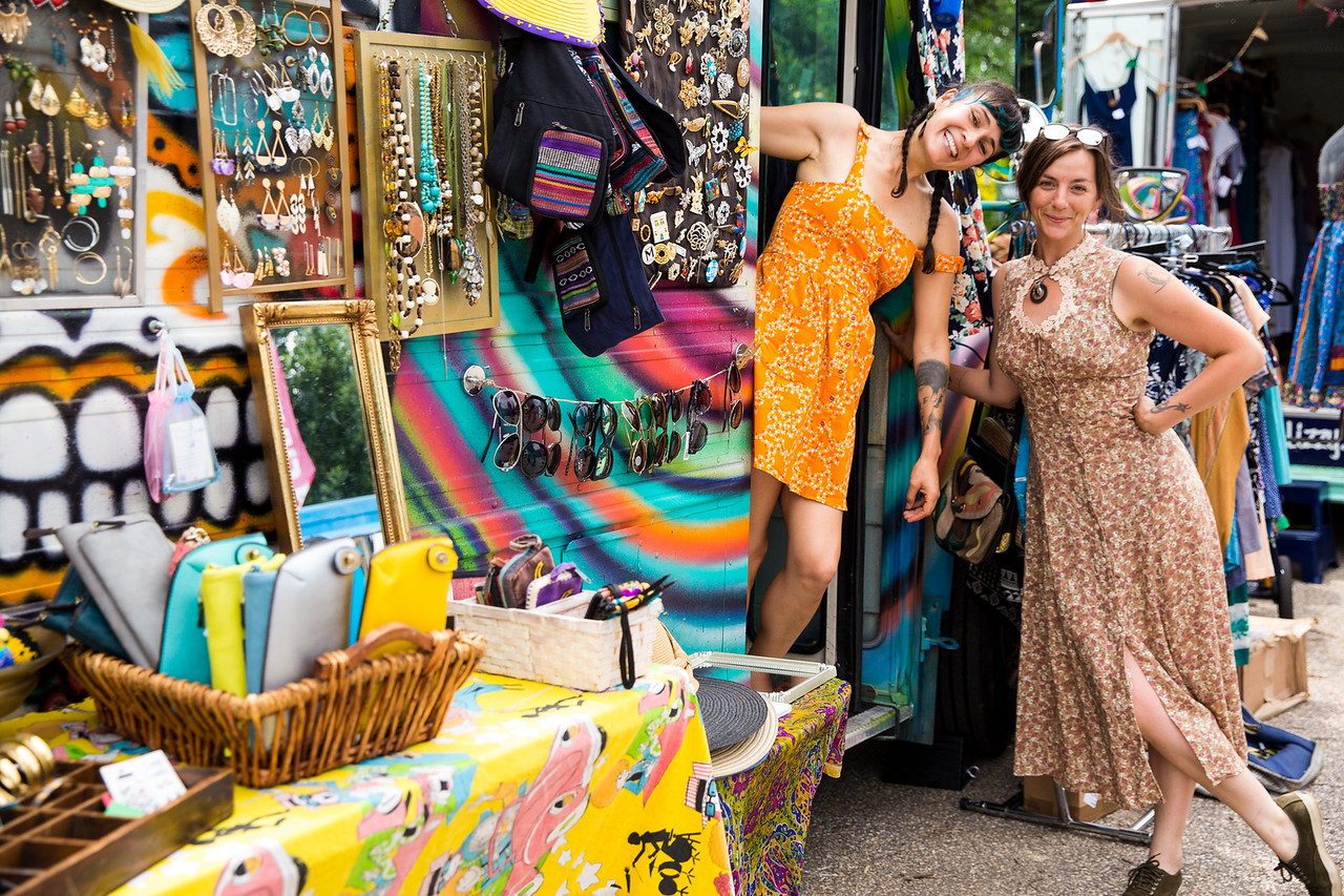 Two women at craft fair
