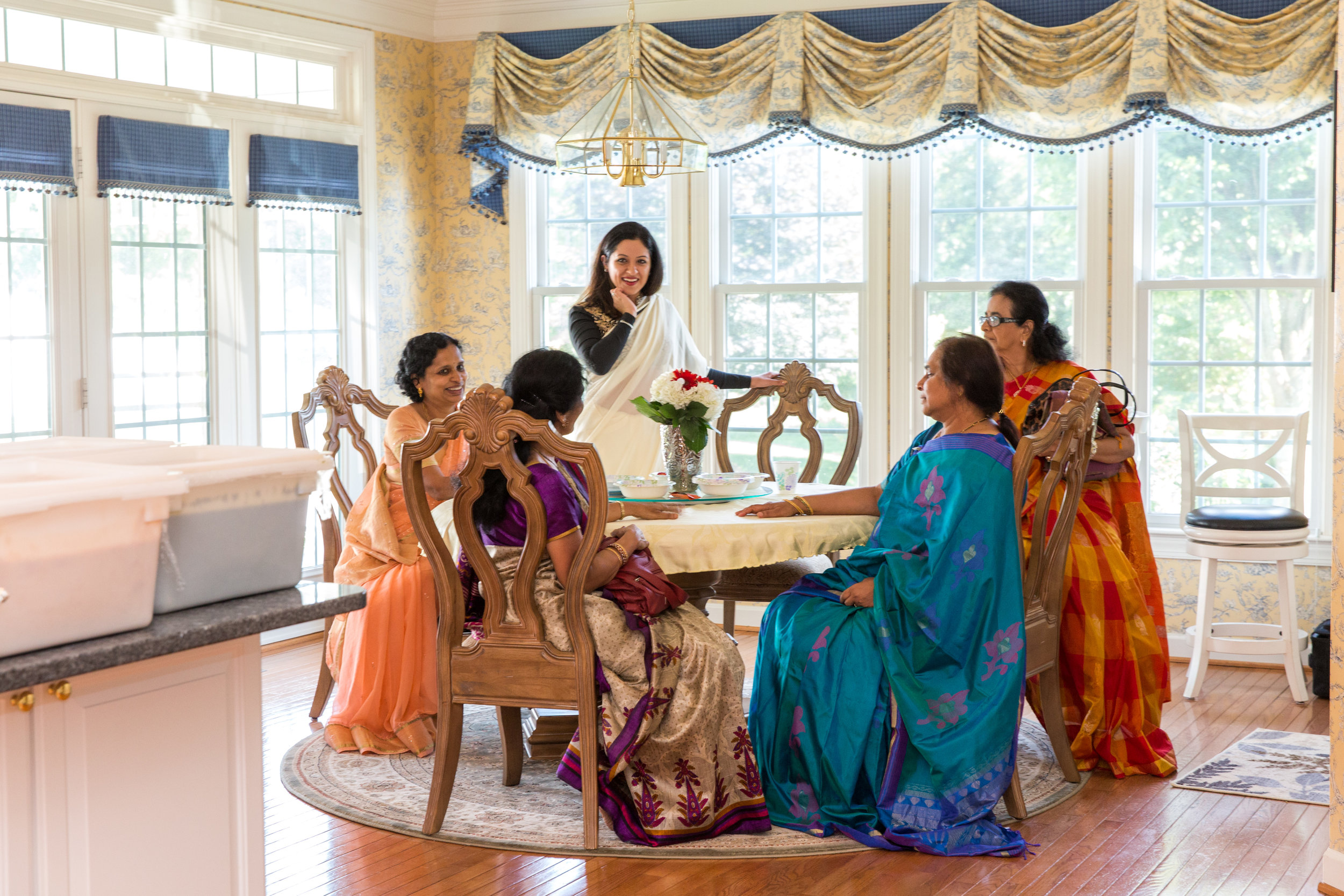 Women sitting around table