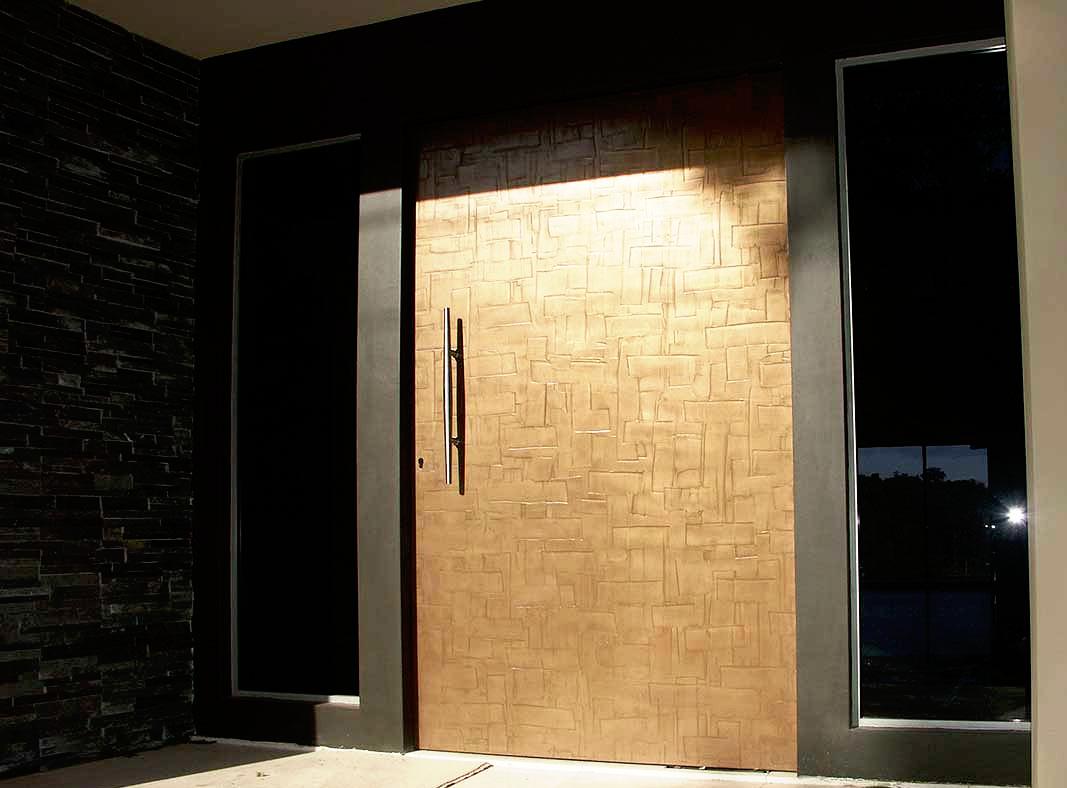 bronze designer door