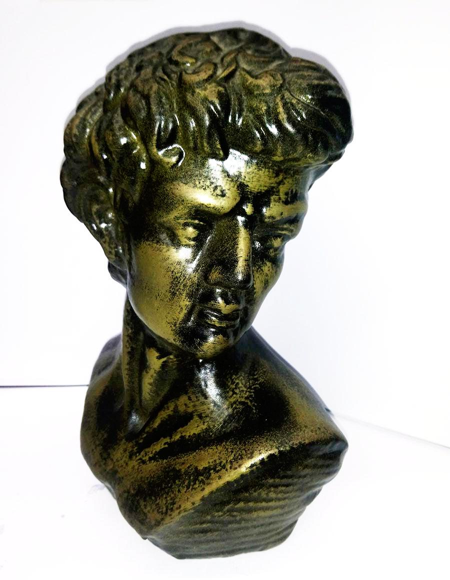brass aged statue