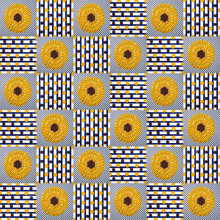 Sunflower checkerboard10x10.jpg