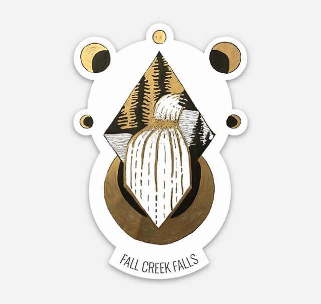 This is a sticker I have made that will soon be for sale 😍 Over school winter break, I decided to make lots of handmade Christmas presents. I decided to convert some of them into stickers and prints for sale 🤗 Fall creek falls is one of my favorite state parks nearby because of the enormous water falls. What state park do you want to see be made like this next?!
