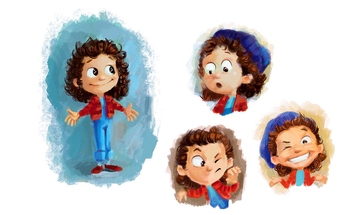 Sara's Character faces