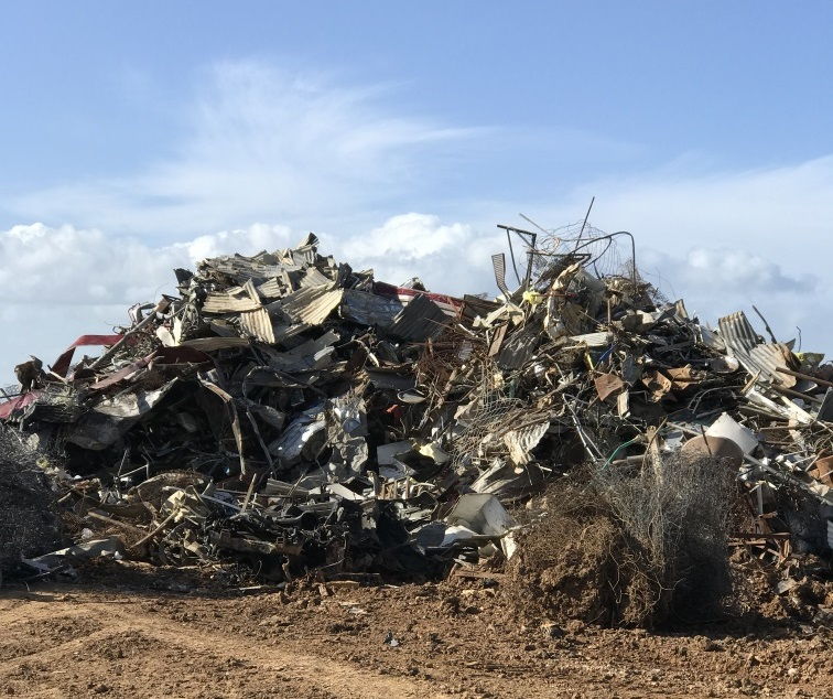 Scrap metal recycling at the Kilmany Resource Recovery Centre and Landfill