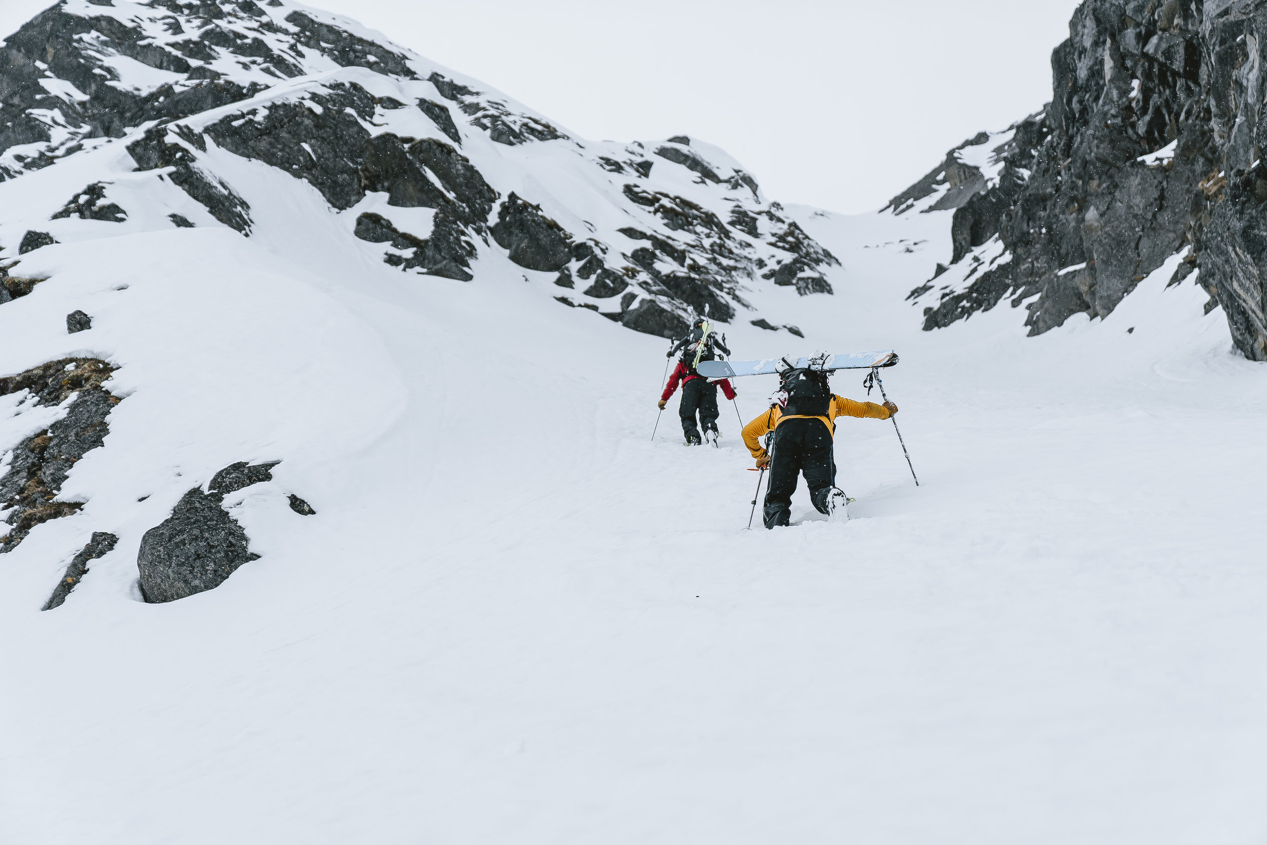 Headed up Lost Couloir - Hatcher Pass.