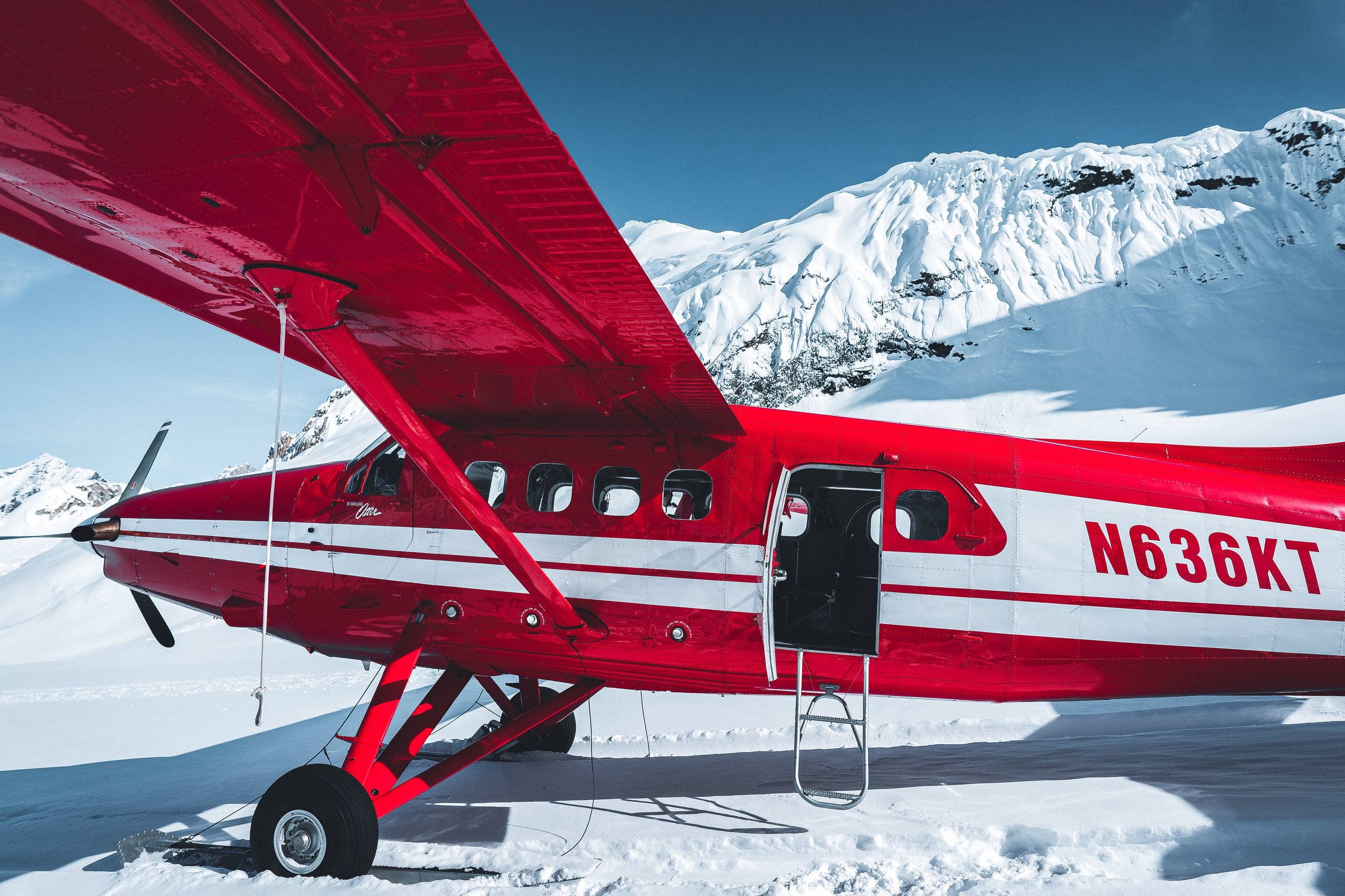 De Havilland Otter landed us on the spectacular Ruth Glacier.