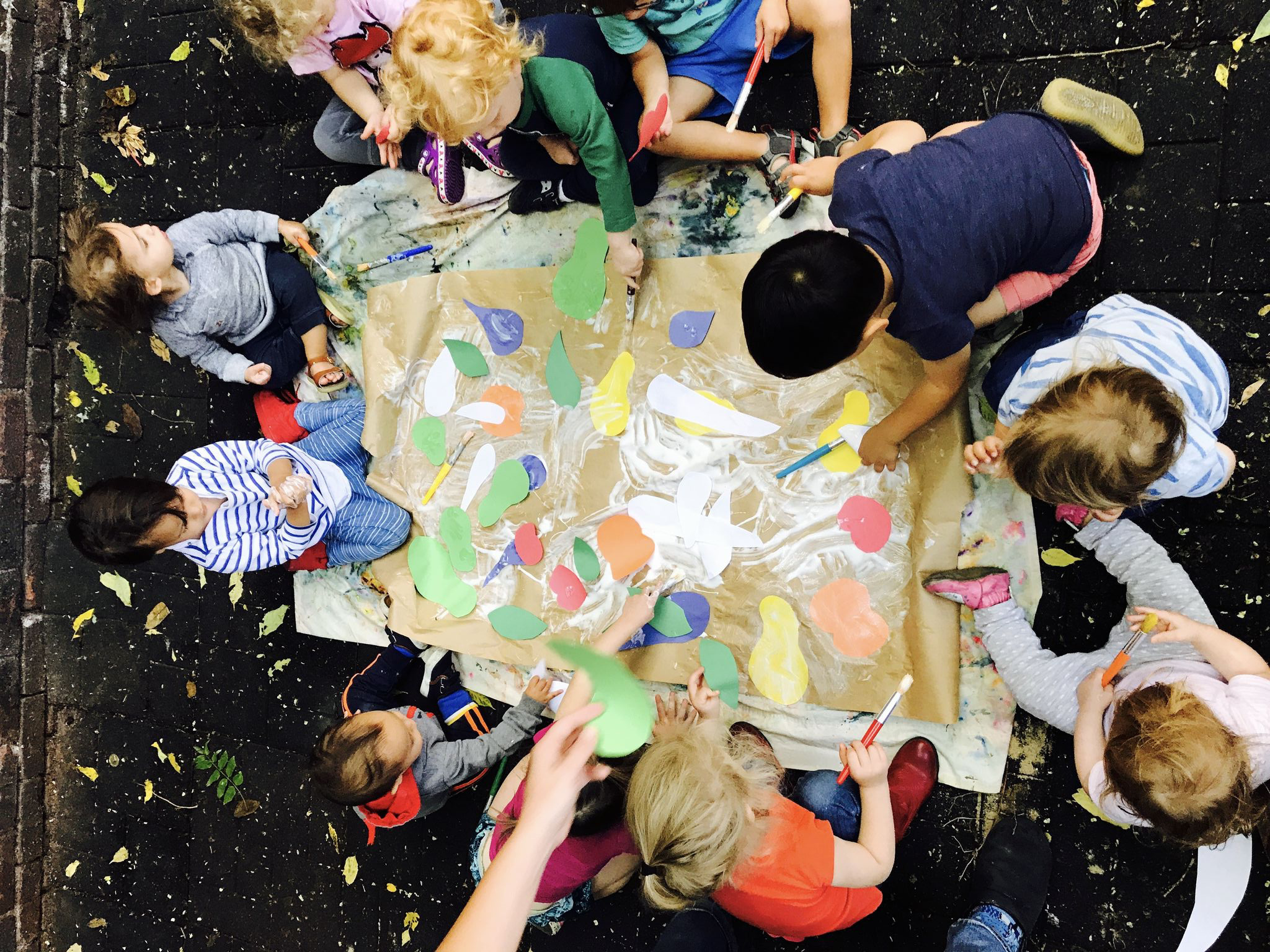 Outdoor Time - Not only is outdoor time great for gross motor skills and learning, it is also a great time to make art!