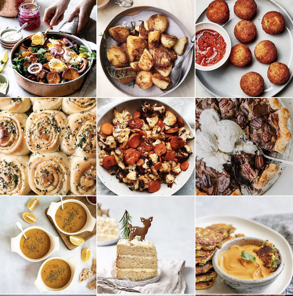 """Samples of photos I identified as """"good"""" food photography"""