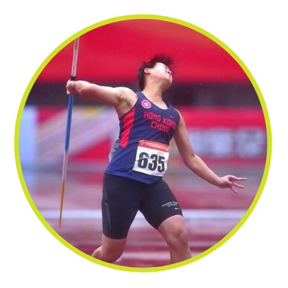 Ms. Woo Wing Tung, past HK record holder, women's javelin throw