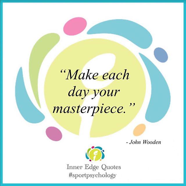 "John Wooden 講過: ""Make each day your masterpiece."" 其實係咩意思?就係運動心理學嘅根本:訂立目標時嘅過程目標。  如果你今個星期日未有節目,不如 2:30pm 去書展聽下 Karen 個《運動心理學 — 建立自信,盡展所長》新書推介會?  #現場買有折 #埋黎聽埋黎買 #運動員點透過心理訓練進步 #運動心理學 #inneredgehk #sportpsychology #mentalskills #motivationmonday #quotes #johnwooden #mentalhealthawareness #communication #relaxation #wellbeing #sports #mentalhealth #hkbookfair"