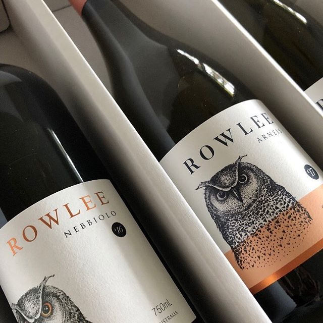 Rowlee Wines. Orange. Brand and wine labels