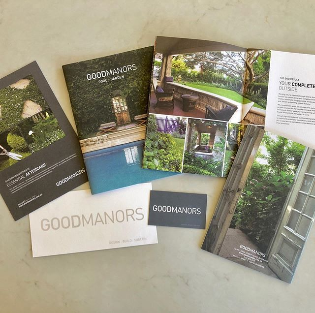 Good Manors Landscaping Sydney. On going branding