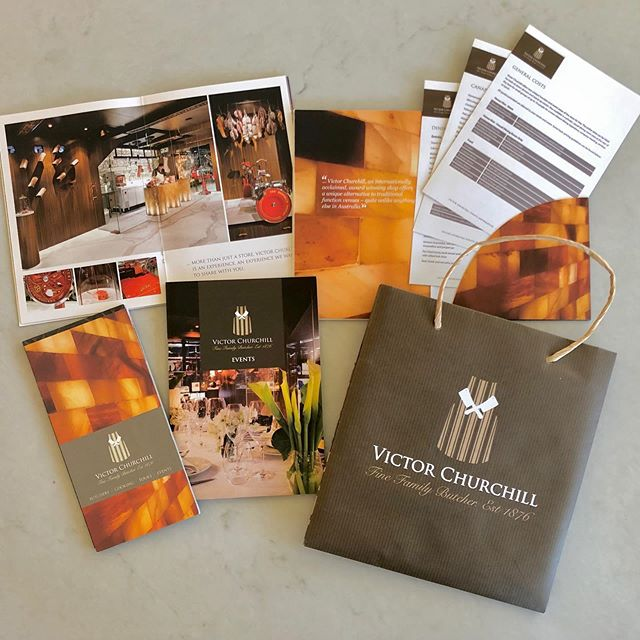 Victor Churchill. Branding and brochure design