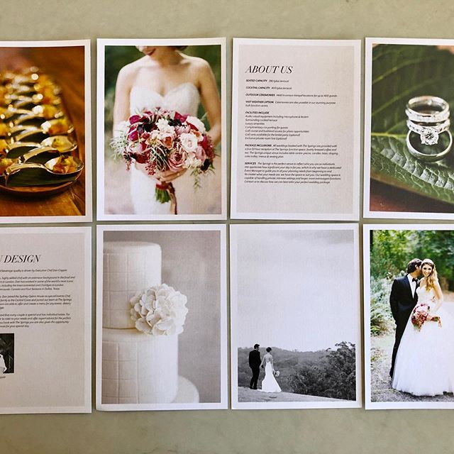 The Springs. Wedding kit and on going branding