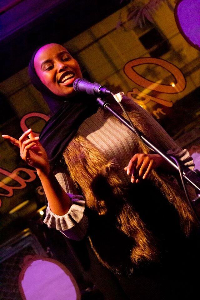 Zaynab performs at Girls on Key. Photo credit: Brendan Bonsack