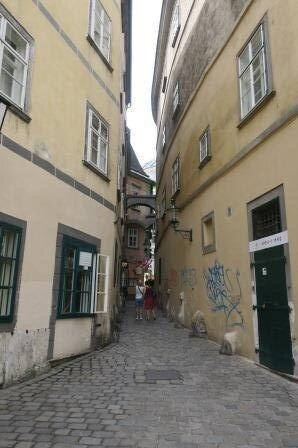 A narrow lane in Vienna  photo: Victor Block