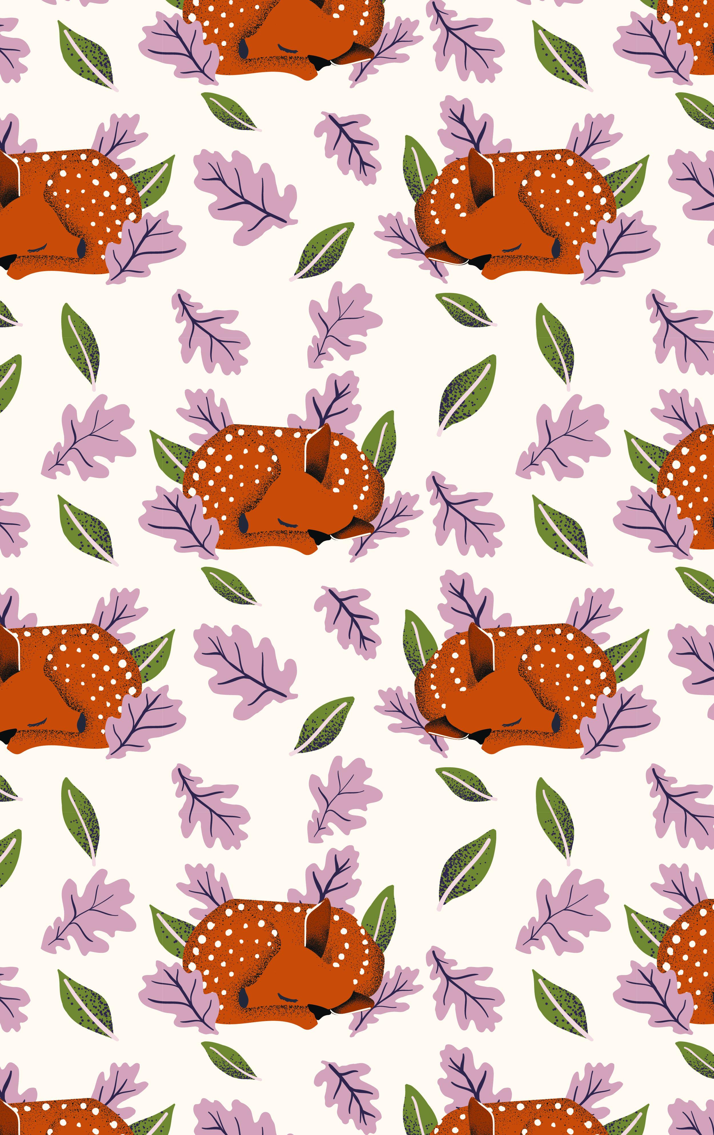 oh deer pattern leaves_ENDAST BAKGRUND pastel pink-01.jpg
