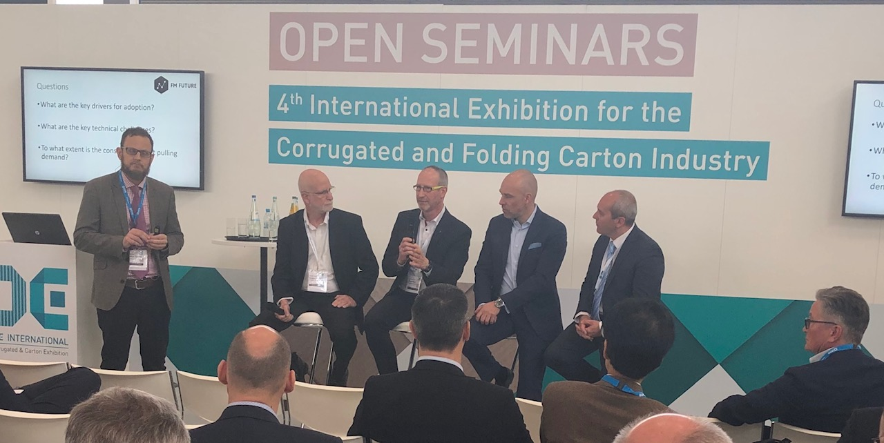 Oliver Baar participated as part of the inkjet for corrugated panel at CCE in March