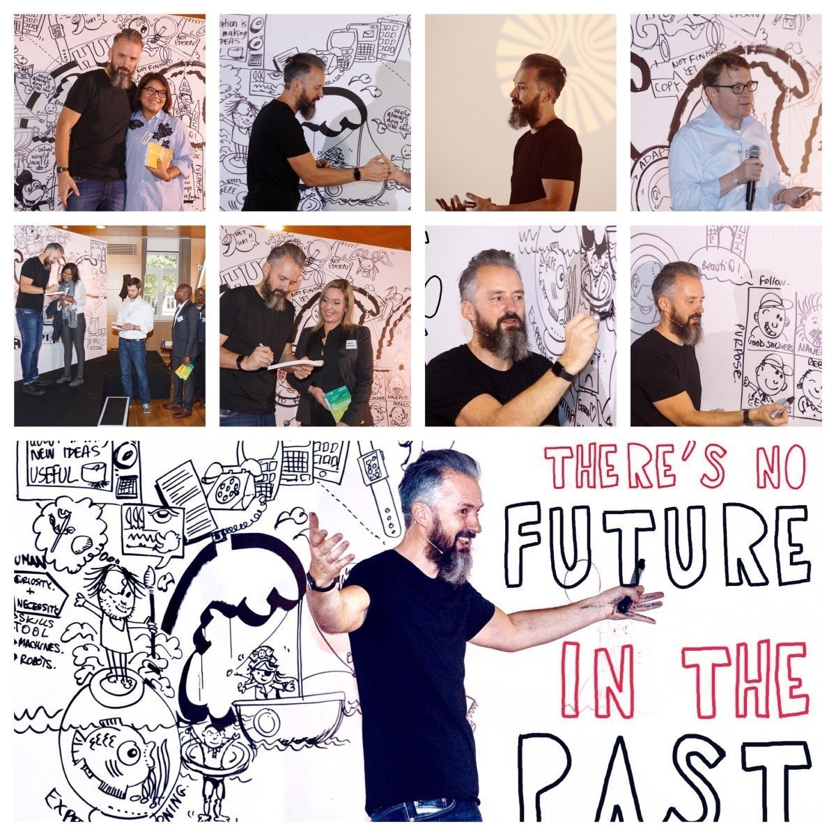 Dr Max has a unique presenting style integrating live art in his presentation