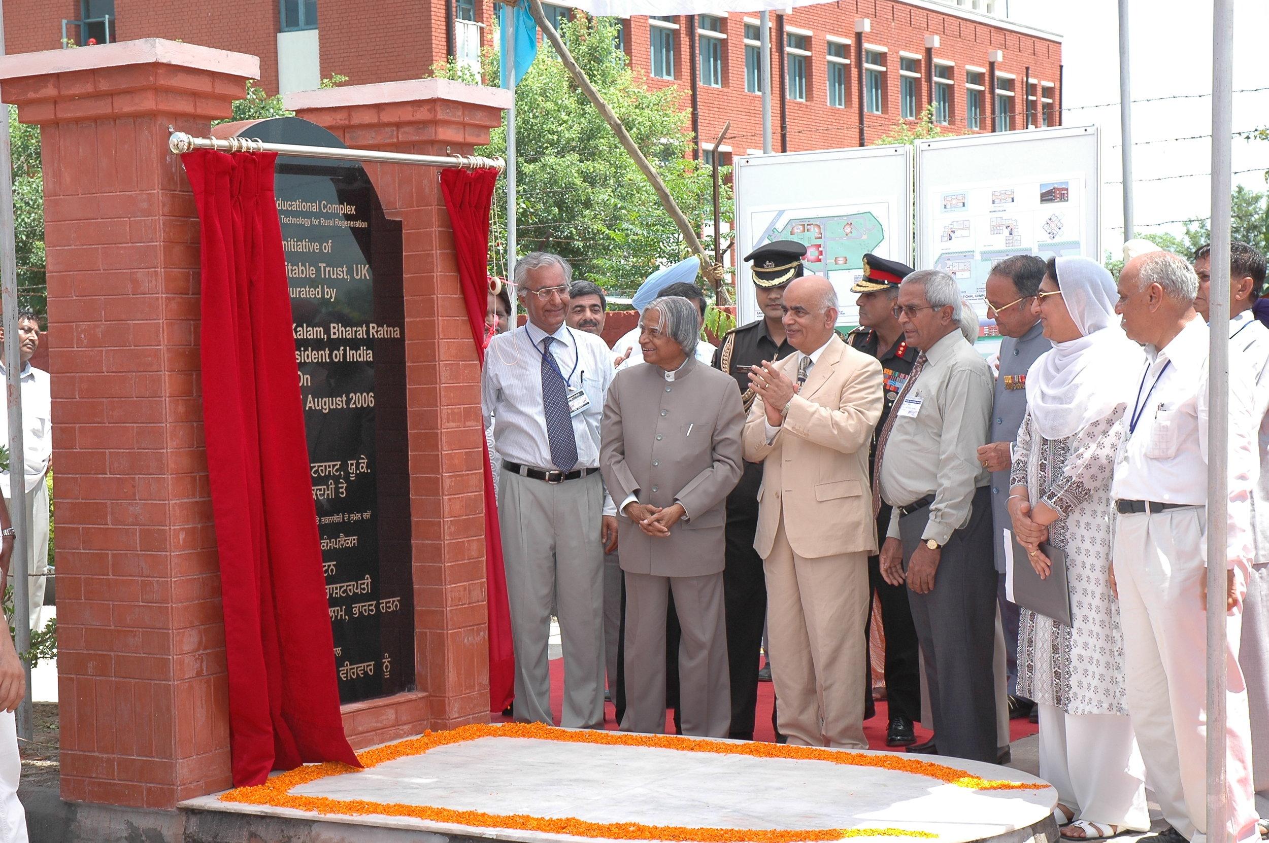 Late President Abdul Kalam Ji inaugurating the campus