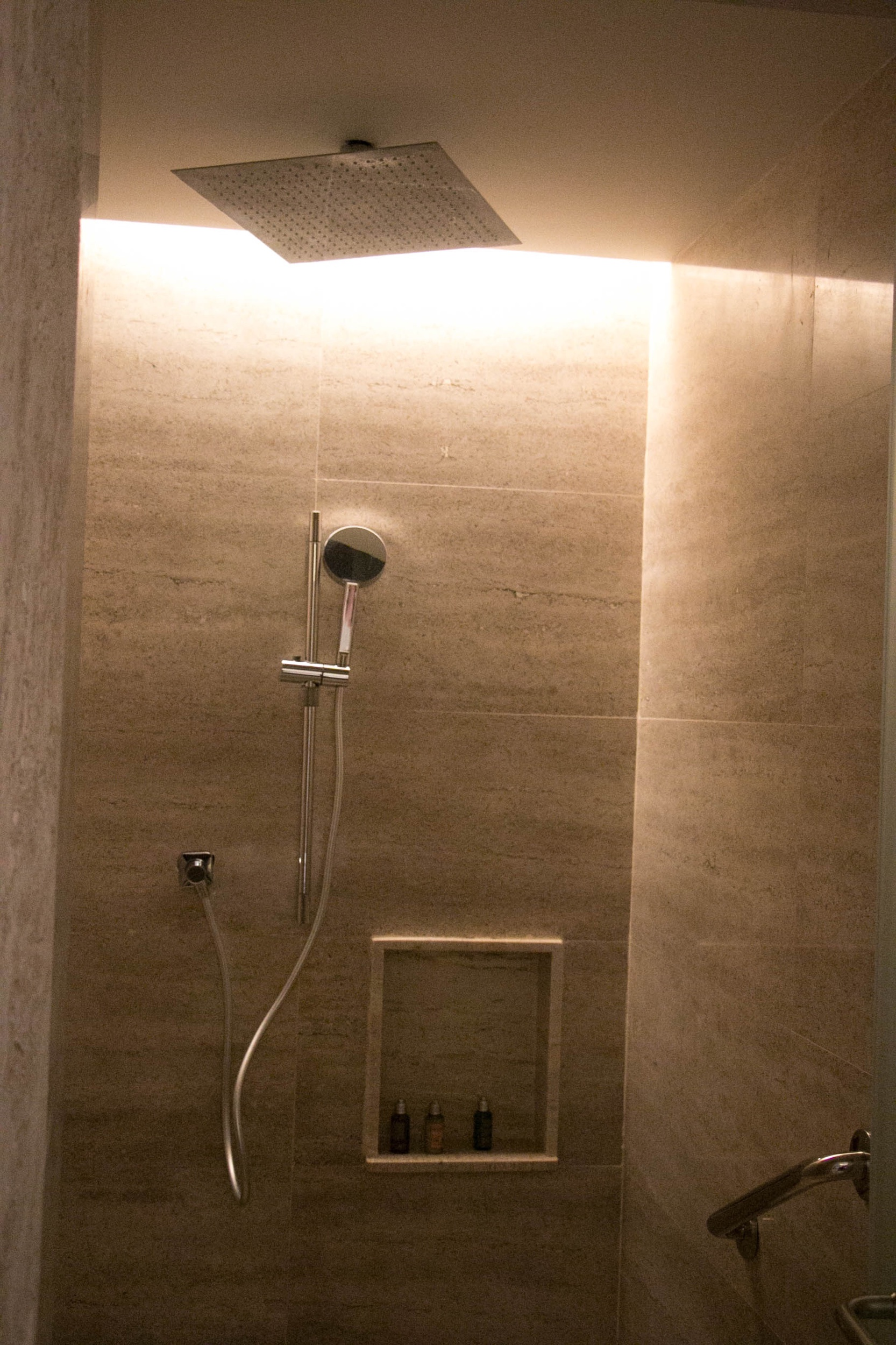 Our Shower with the ran drop faucet