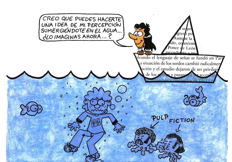 Viñeta del cómic de Joaquín Carro