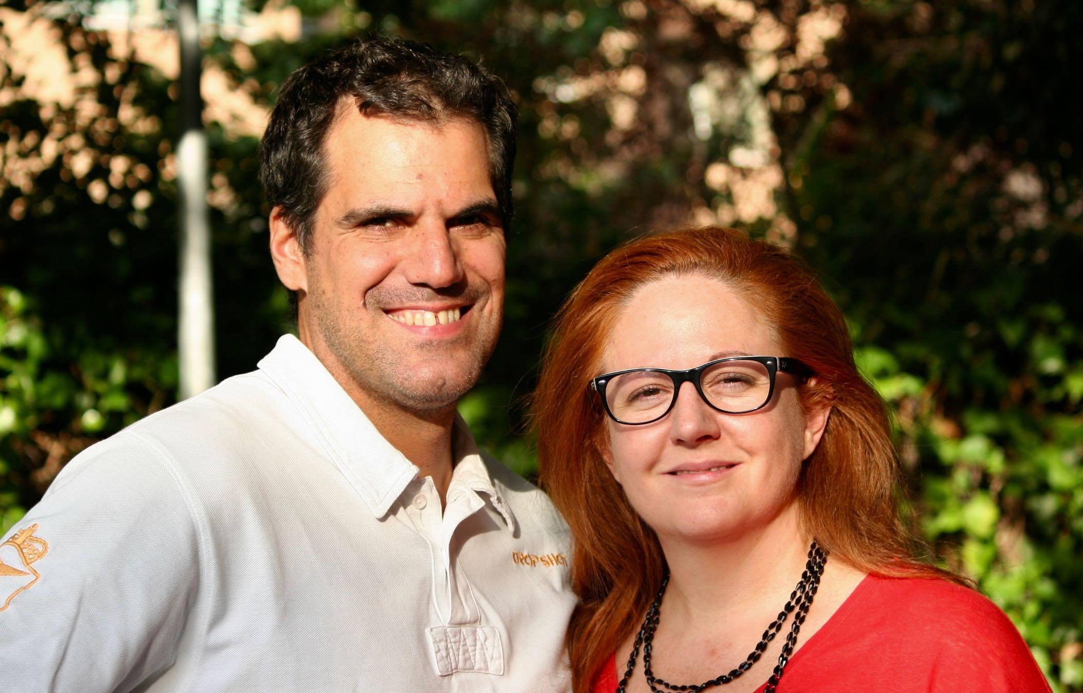 Alba del Río y su esposo, Eduardo.