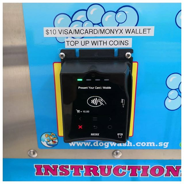 Cashless payment facility is now up and running #dogwash #vendingmachines #cashless