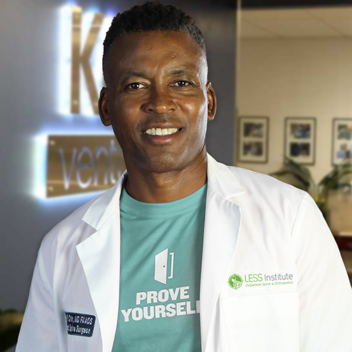 PROFESSOR KINGSLEY R. CHIN M.D.Orthopedic & Spine Surgeon - As LESS Institute Founder, Dr. Chin pursues endeavors of medical entrepreneurship, tourism & mentorship throughout Florida, New Jersey, New York & Jamaica, treating thousands of patients globally each year.Download CVLinkedIn