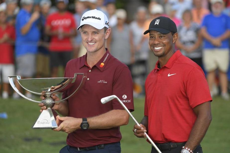 �FedEx Cup Sieger 2018 wird  Justin Rose  🇬🇧 I 🥇Die Tour Championship gewinnt 2018  Tiger Woods 🇺🇸  I  Bildquelle: upi.com by Connor Grott
