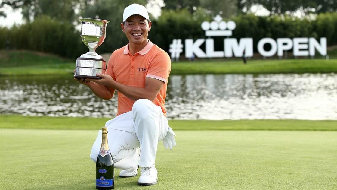 �   KLM Open 2018 Champion    wird    Wu Ashun 🇨🇳    I Bildquelle:   https://www.golfaustralia.com