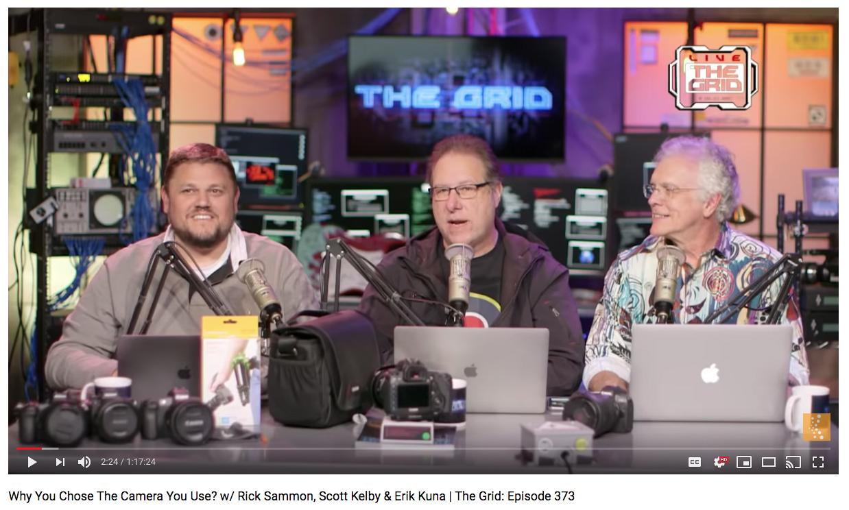 Erik Kuna, Scott Kelby, and Rick Sammon on The Grid Live.