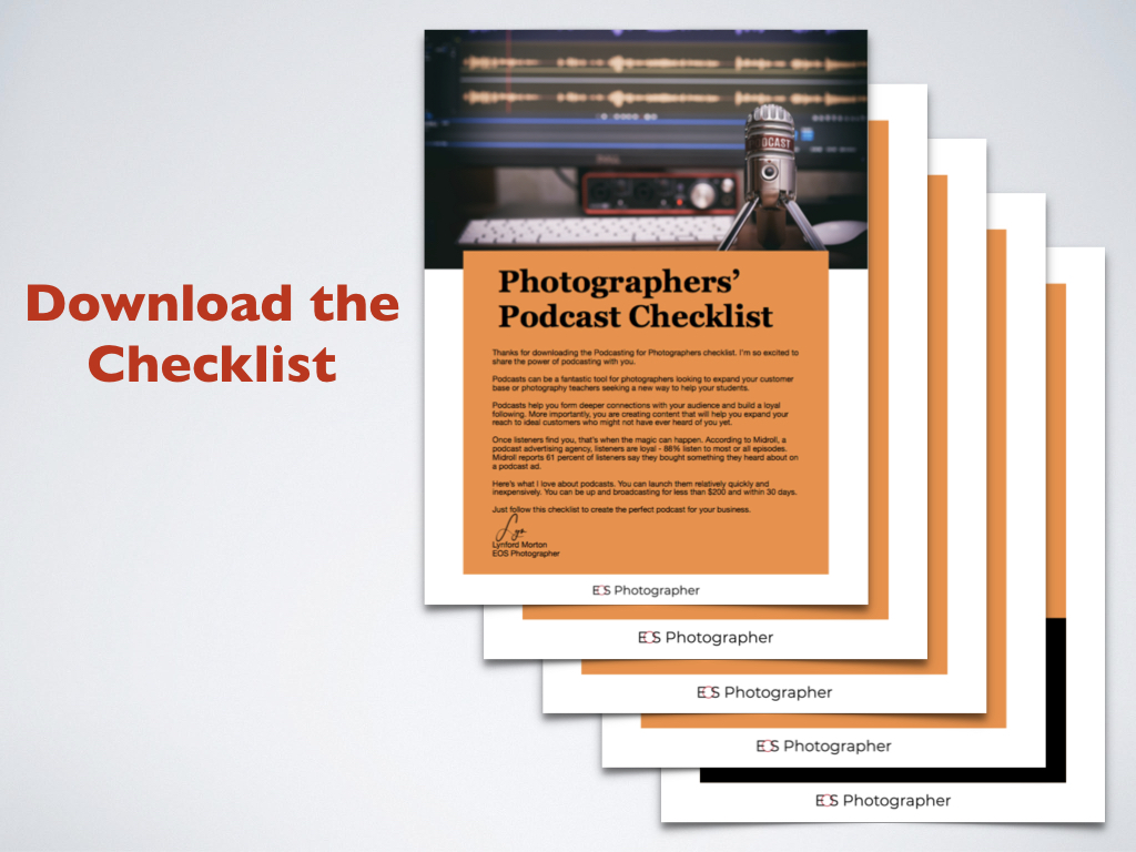 If you are thinking that you don't know where to start, I just made it easy for you. I created a downloadable podcasting checklist. It takes you through all the steps you need to take to create your own podcast. I even have a shopping list of all the hardware and software you need to purchase. Click to download.
