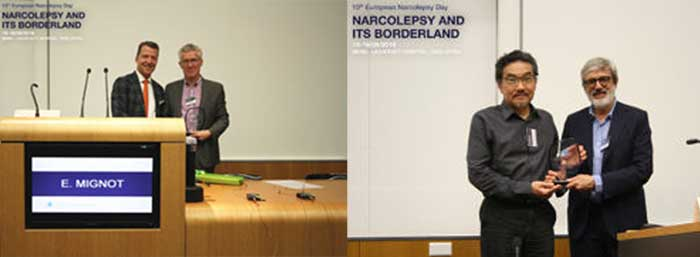 Professor Emmanual Mignot and Professor Masashi Yanagisawa both received European Narcolepsy awards for their outstanding research contributions to the field of narcolepsy.