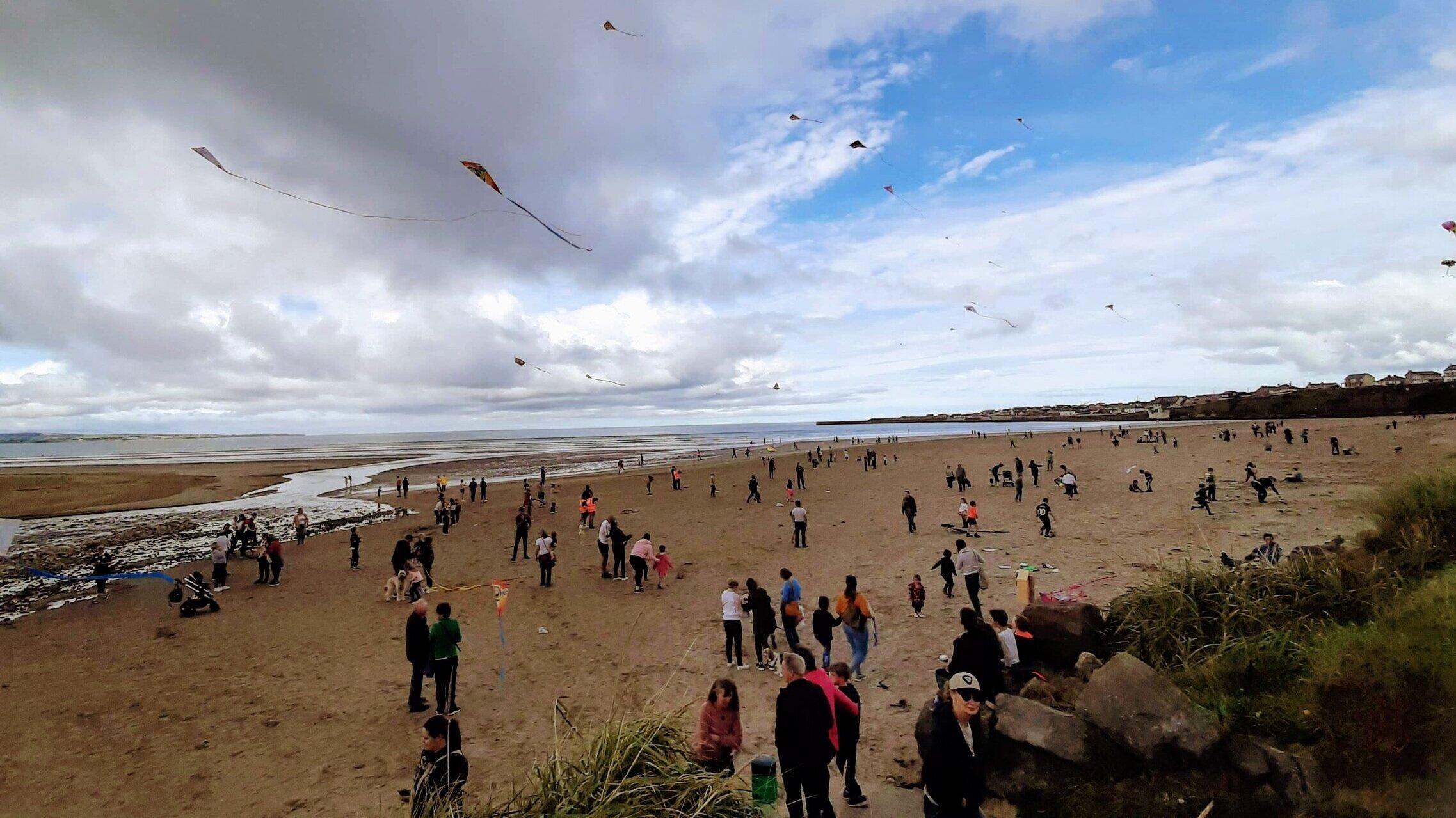 Kites flying high in Enniscrone Co. Sligo for World Narcolepsy Day.
