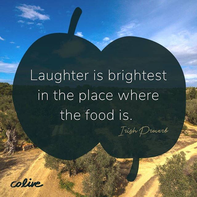 Hey Colivers,  Let us bring a bit more light to your dinner tables and share the laughter. Discover #tastewithoutlimits now at www.coliveoil.com #colive #evoo . . . . #oliveoil #food #quote #quoteoftheday #foodforthought #experience #foodexperience #quotesilove #foodaholic #foodfeed #foodie😋 #foodiepic #goodword #wordsgram #wordstoinspire #laughter #quotes🖋️